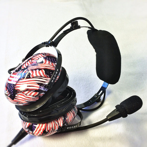 Arcus ANR Aviation Headset - US Flags - Wired Active Noise Canceling Aviation Headset - The Squawk Shoppe - 3