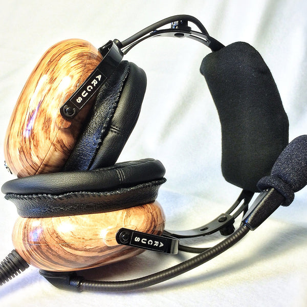 Arcus ANR Aviation Headset - Driftwood - Wired Active Noise Canceling Aviation Headset - The Squawk Shoppe - 2
