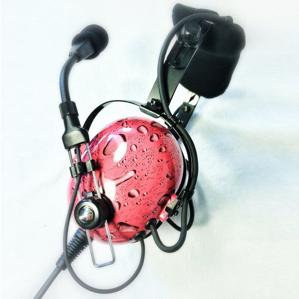 Nimbo PNR Aviation Headset - Water Drops - Wired Passive Noise Canceling Aviation Headset - The Squawk Shoppe - 3