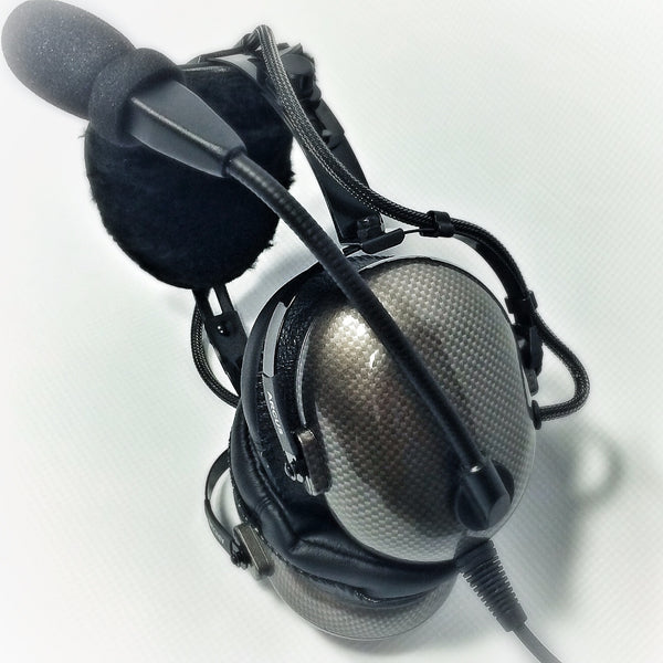 Nimbo PNR Aviation Headset - Cyber Carbon Fiber - Wired Passive Noise Canceling Aviation Headset - The Squawk Shoppe - 5