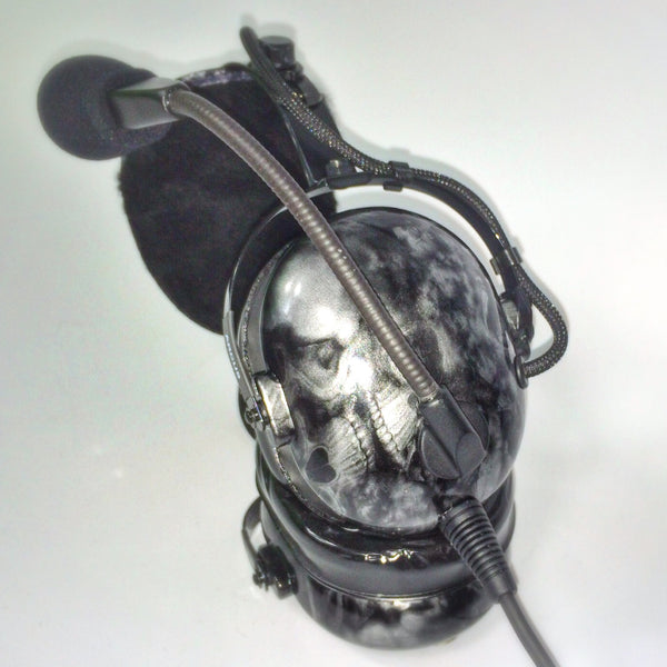 Arcus ANR Aviation Headset - Sea of Skulls - Wired Active Noise Canceling Aviation Headset - The Squawk Shoppe - 2