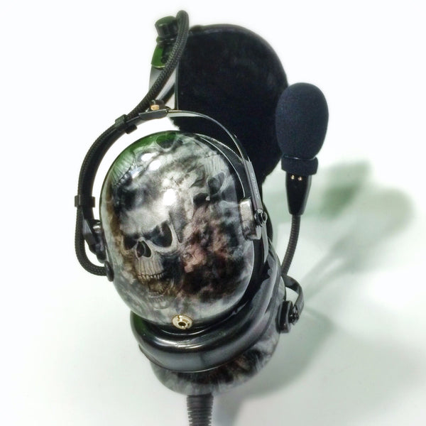 Nimbo PNR Aviation Headset - Sea of Skulls - Wired Passive Noise Canceling Aviation Headset - The Squawk Shoppe - 3