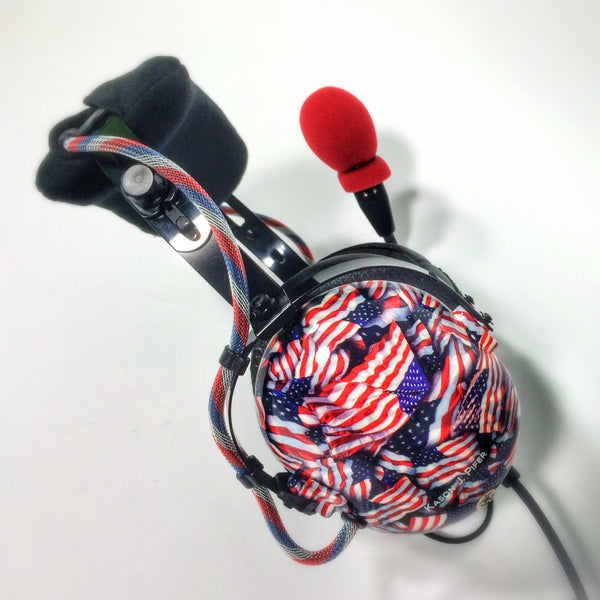 Arcus ANR Aviation Headset - US Flags - Wired Active Noise Canceling Aviation Headset - The Squawk Shoppe - 4