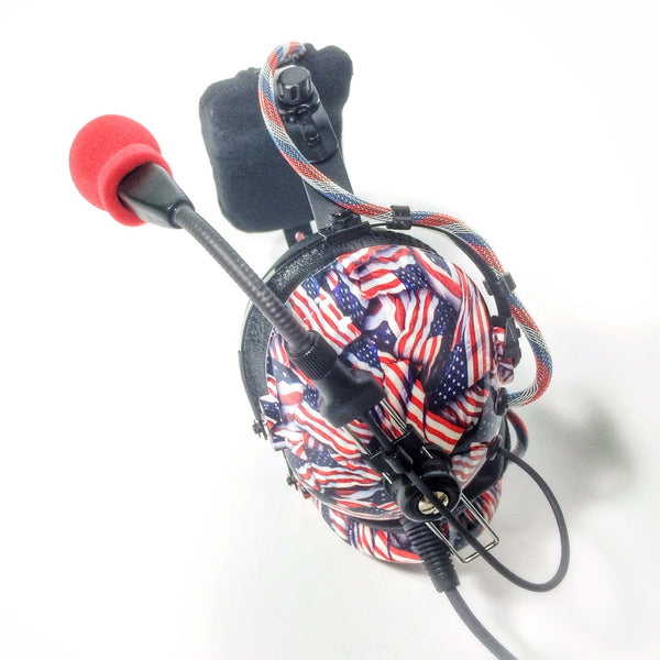 Arcus ANR Aviation Headset - US Flags