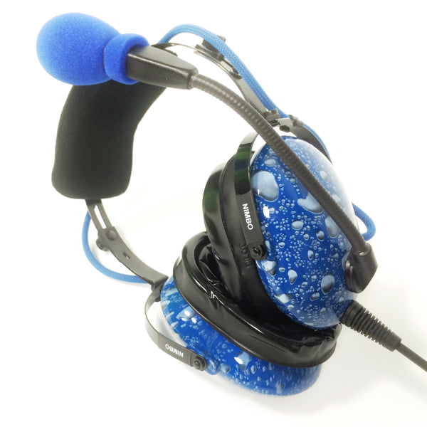 Nimbo PNR Aviation Headset - Water Drops - Wired Passive Noise Canceling Aviation Headset - The Squawk Shoppe - 1
