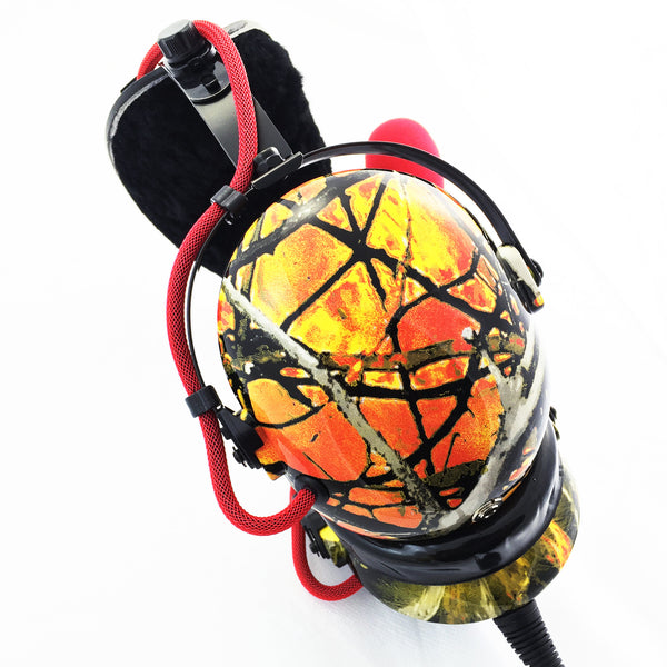Nimbo PNR Aviation Headset - WildFire Camo - Wired Passive Noise Canceling Aviation Headset - The Squawk Shoppe - 1