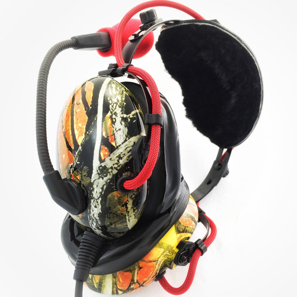 Nimbo PNR Aviation Headset - WildFire Camo - Wired Passive Noise Canceling Aviation Headset - The Squawk Shoppe - 2