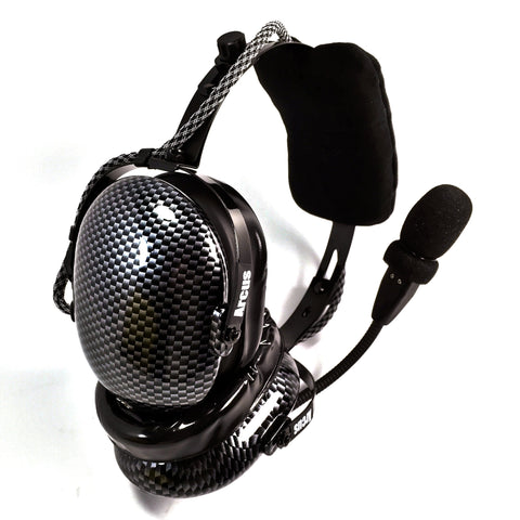 Arcus ANR Aviation Headset - Cyber Carbon Fiber - Wired Active Noise Canceling Aviation Headset - The Squawk Shoppe - 1