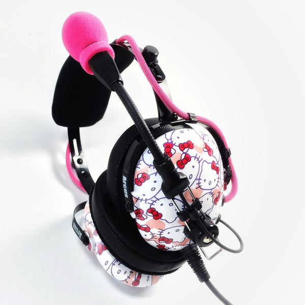 Nimbo PNR Aviation Headset - Hello Kitty - Wired Passive Noise Canceling Aviation Headset - The Squawk Shoppe - 2