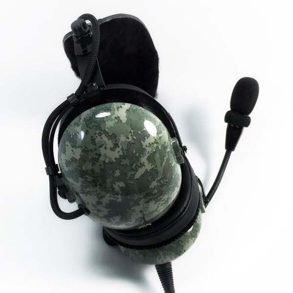 Nimbo PNR Aviation Headset - Digital Urban Gray Camo - Wired Passive Noise Canceling Aviation Headset - The Squawk Shoppe - 2