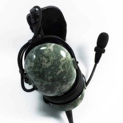 Arcus ANR Aviation Headset - Digital Urban Gray Camo - Wired Active Noise Canceling Aviation Headset - The Squawk Shoppe - 1
