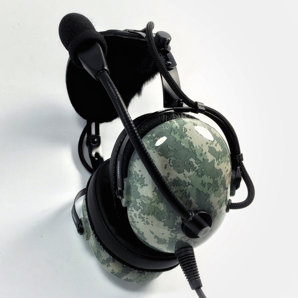 Nimbo PNR Aviation Headset - Digital Urban Gray Camo - Wired Passive Noise Canceling Aviation Headset - The Squawk Shoppe - 1