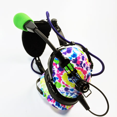 Arcus ANR Aviation Headset - 60's Tie Dye - Wired Active Noise Canceling Aviation Headset - The Squawk Shoppe - 1