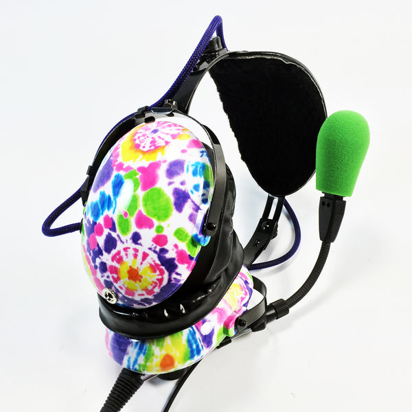 Nimbo PNR Aviation Headset - Tie Dye - Wired Passive Noise Canceling Aviation Headset - The Squawk Shoppe - 3