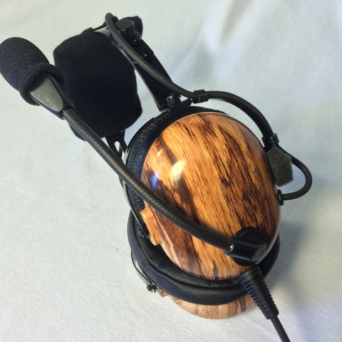 Nimbo PNR Aviation Headset - Driftwood - Wired Passive Noise Canceling Aviation Headset - The Squawk Shoppe - 1