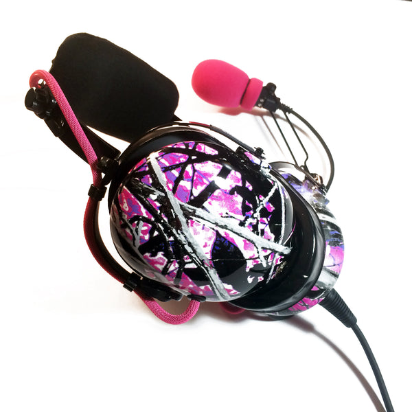 Arcus ANR Aviation Headset - Muddy Girl Camo - Wired Active Noise Canceling Aviation Headset - The Squawk Shoppe - 6