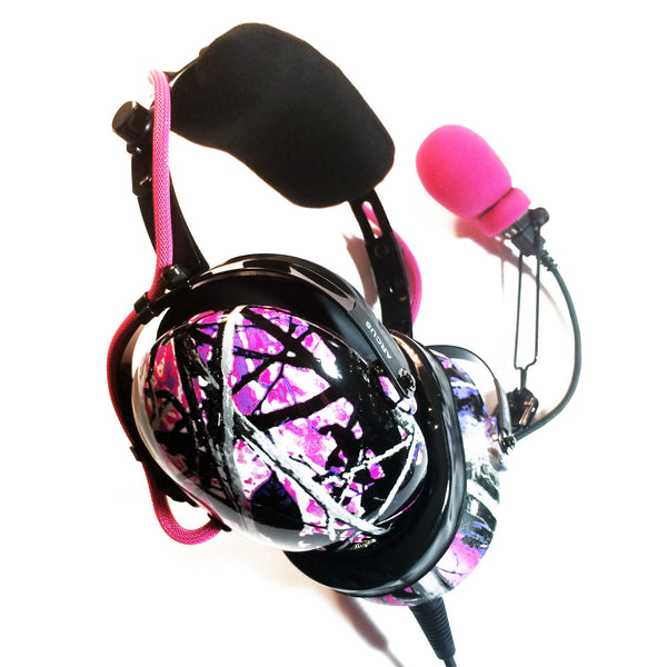 Arcus ANR Aviation Headset - Muddy Girl Camo - Wired Active Noise Canceling Aviation Headset - The Squawk Shoppe - 1