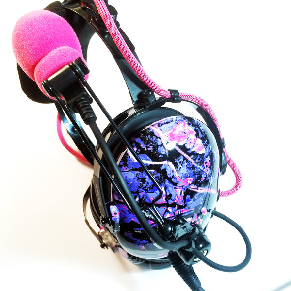 Arcus ANR Aviation Headset - Muddy Girl Camo - Wired Active Noise Canceling Aviation Headset - The Squawk Shoppe - 7