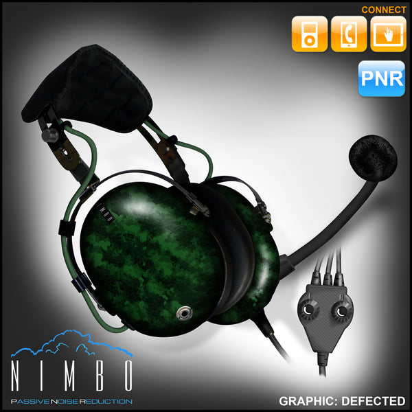 Nimbo PNR Aviation Headset - Defected - Wired Passive Noise Canceling Aviation Headset - The Squawk Shoppe - 6