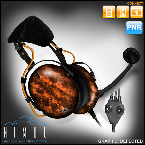 Nimbo PNR Aviation Headset - Defected - Wired Passive Noise Canceling Aviation Headset - The Squawk Shoppe - 10