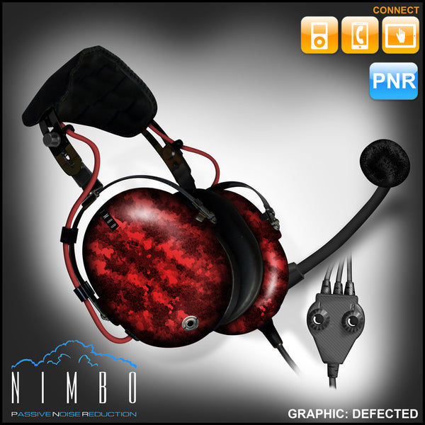 Nimbo PNR Aviation Headset - Defected - Wired Passive Noise Canceling Aviation Headset - The Squawk Shoppe - 8