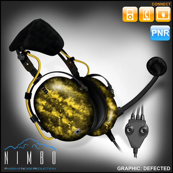 Nimbo PNR Aviation Headset - Defected - Wired Passive Noise Canceling Aviation Headset - The Squawk Shoppe - 7