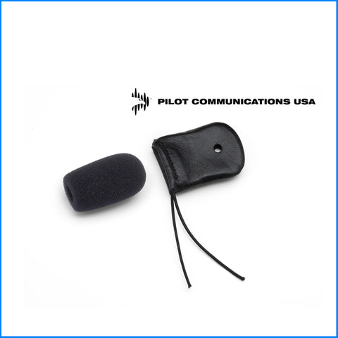 Aviation Headset Leather Mic Cover & Windscreen - Aviation Headset Accessories - The Squawk Shoppe - 1