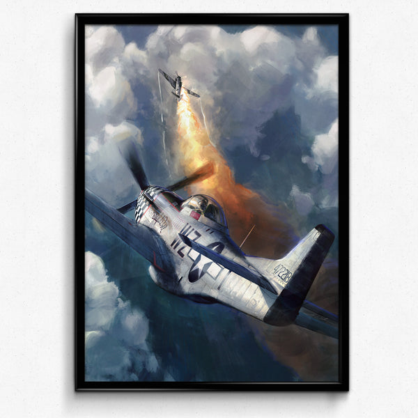 Aviation Painting - P-51 Mustang Big Beautiful Doll - Art - The Squawk Shoppe - 4