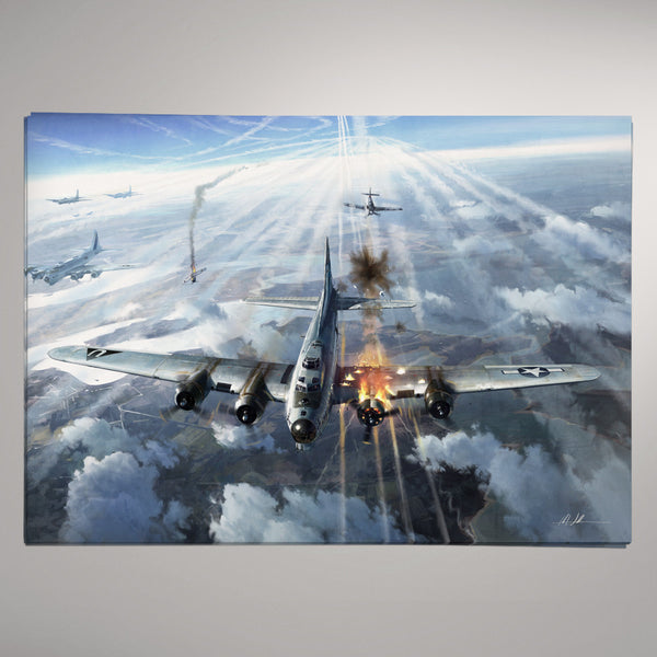 Aviation Painting - High Drama B17 Bomber - Art - The Squawk Shoppe - 2
