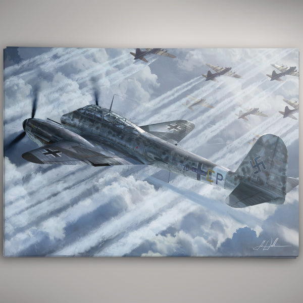 Aviation Painting - Messerschmitt Me 410 Hornisse