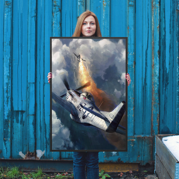Aviation Painting - P-51 Mustang Big Beautiful Doll - Art - The Squawk Shoppe - 6
