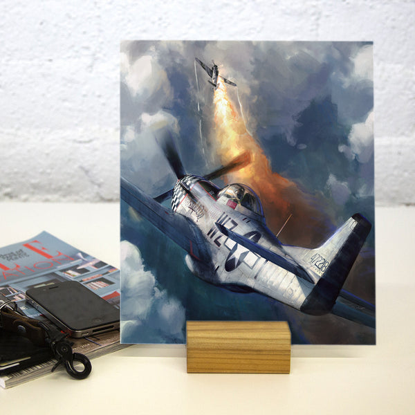 Aviation Painting - P-51 Mustang Big Beautiful Doll - Art - The Squawk Shoppe - 2