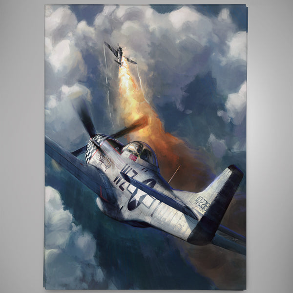 Aviation Painting - P-51 Mustang Big Beautiful Doll - Art - The Squawk Shoppe - 3