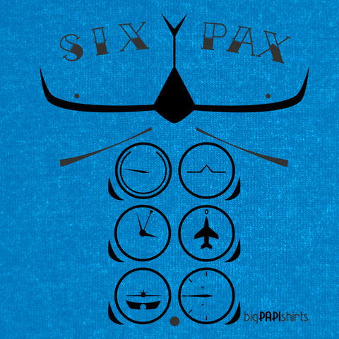 Aviation T-Shirt - Six Pax - T-Shirts - The Squawk Shoppe - 1