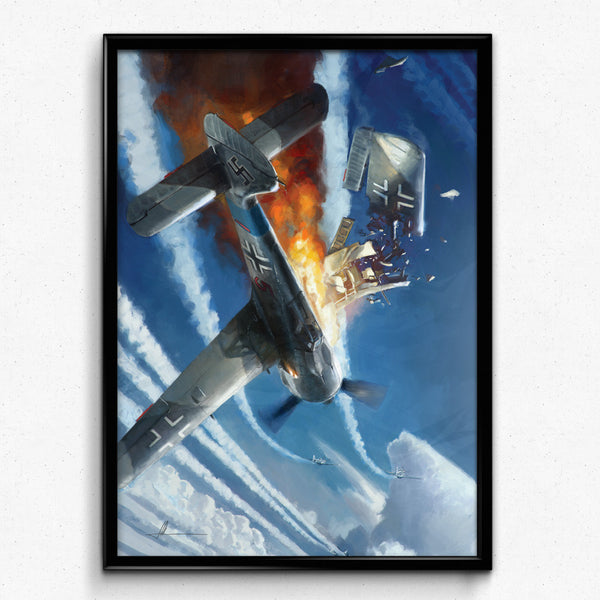 Aviation Painting - Wing Clipped - Art - The Squawk Shoppe - 3