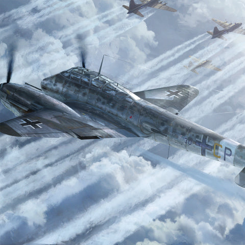 Aviation Painting - Messerschmitt Me 410 Hornisse - Art - The Squawk Shoppe - 1