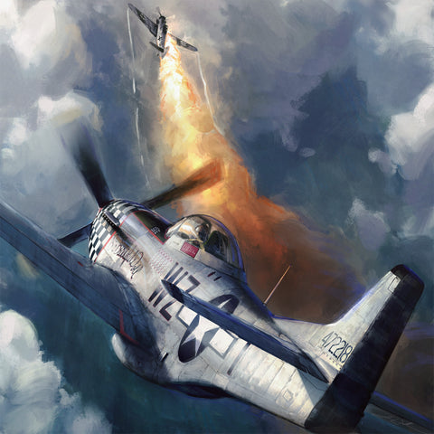Aviation Painting - P-51 Mustang Big Beautiful Doll - Art - The Squawk Shoppe - 1