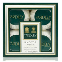 Yardley London Lily of the Valley Guest Soaps 4 x 50g