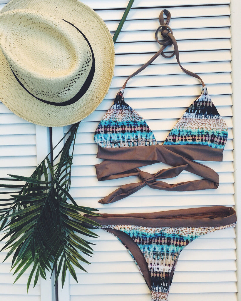 Bay Breeze Wrap Bikini- Brazilian Cut