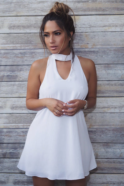 Ivory Chiffon Dress