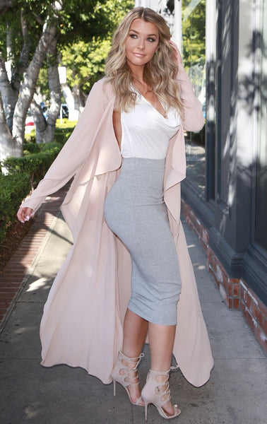 Champagne Draped Duster