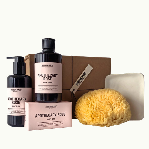 Hudson Made Apothecary Rose Body Box Deluxe