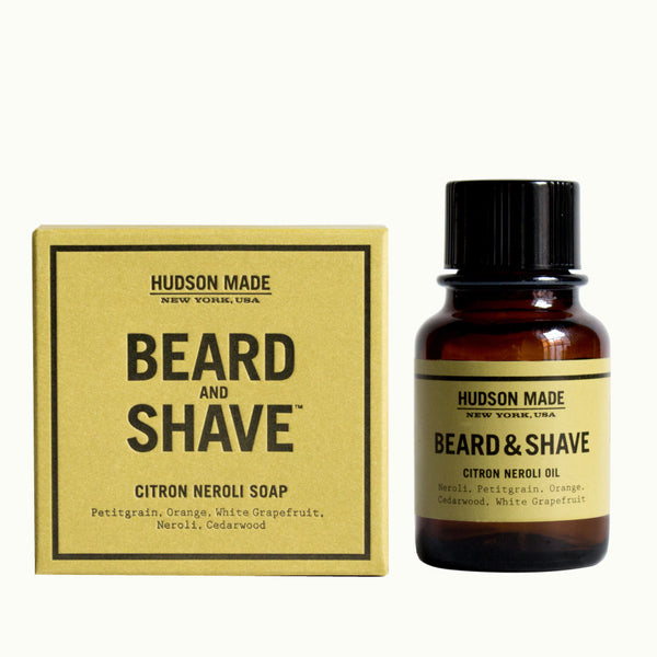 Hudson Made Citron Neroli Beard and Shave Oil and Soap Combo