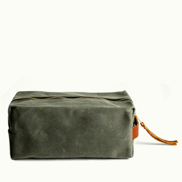 Cotton Twill Dopp Kits - Army Green