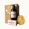 Hudson Made Rose, Patchouli, Cinnamon Leaf Apothecary Rose Body Box with Body Milk, Body bar, and Sea Sponge