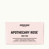 Hudson Made Apothecary Rose Body Bar soap Mildly Scented with Intoxicating Rose, Patchouli, Rose Geranium, and Cinnamon Leaf.