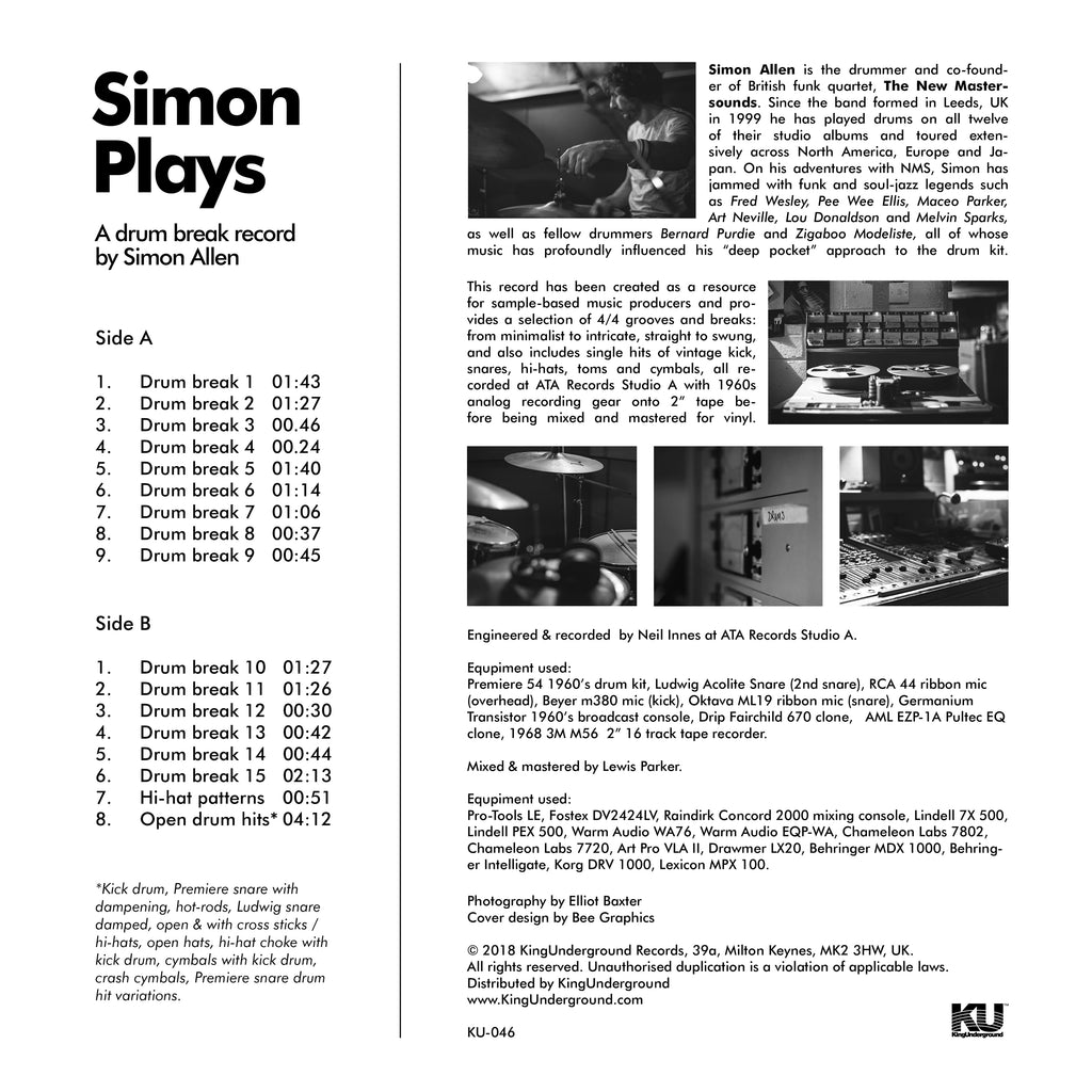 Vintage Drum Breaks by Simon Allen - Simon Plays