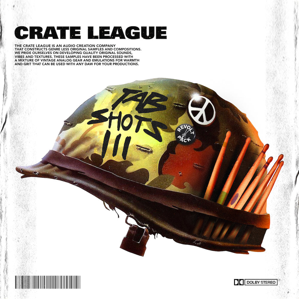 The Crate League - Tab Shots Vol. 3 (One Shot Drum Kit)