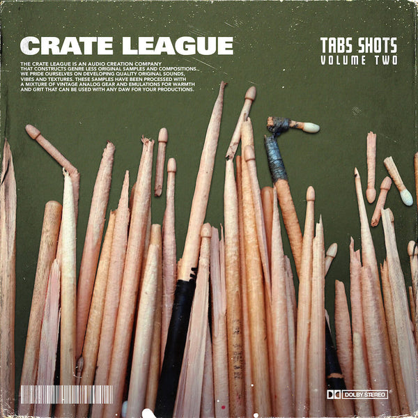 The Crate League - Tab Shots Vol. 2 (One Shot Drum Kit)