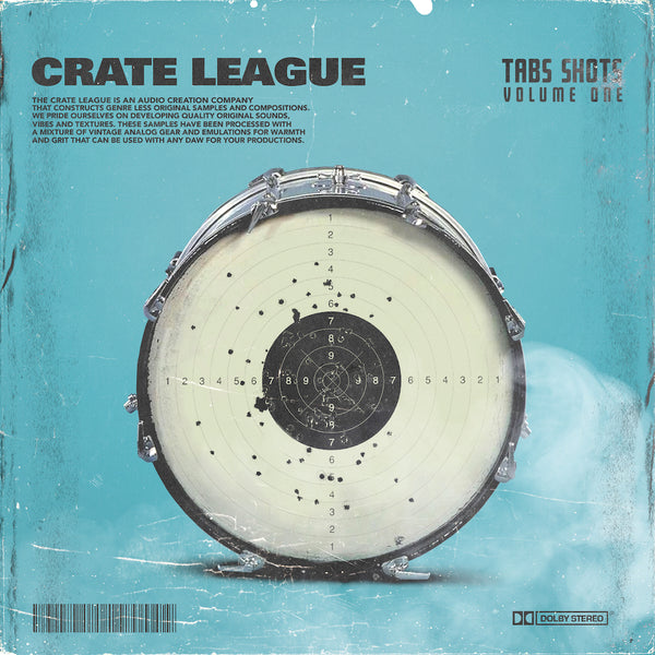 The Crate League - Tab Shots Vol. 1 (One Shot Drum Kit)